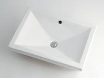 カクダイ LUJU リュウジュ 角型洗面器  493-002