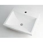 カクダイ LUJU リュウジュ 角型洗面器 1ホール 493-003