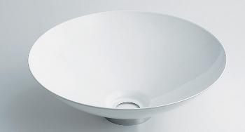 カクダイ 鉄穴 かんな 丸型手洗器 493-039-W