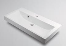 カクダイCORPOSO コルポーゾ 角型洗面器 1ホール 493-070-1000