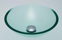 カクダイ SHOW 硝ガラス丸型洗面器 ホワイト 493-025-C