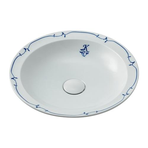 カクダイ 奏 かなで 丸型洗面器(シルク) 493-055-W