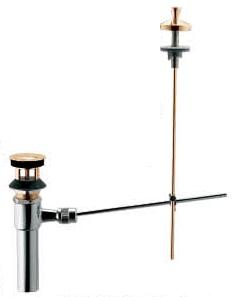 カクダイ 排水金具Φ32 ポップアップ排水金具ユニット 494-011-32(ゴールド)