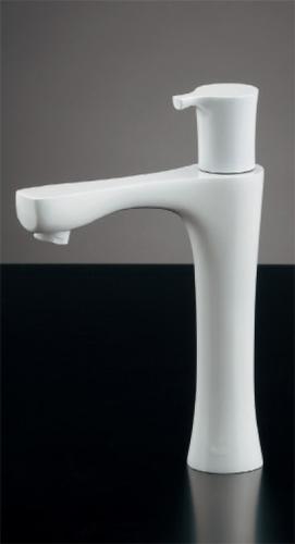 カクダイ 立水栓 神楽(かぐら)ミドル・コットンホワイト 716-851-W