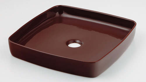 カクダイ MINO 美濃 角型手洗器 493-096-BR(ショコラ)