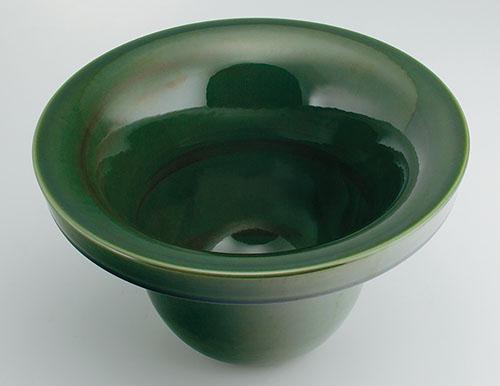 カクダイ 碌珠(ろくじゅ) 丸型手洗器 青竹 493-099-GR