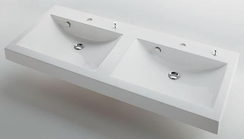 カクダイ marmorin マルモリン 角型洗面器 (ポップアップ独立つまみタイプ)#MR-493223H