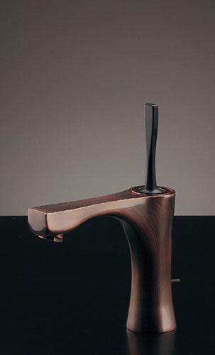 カクダイ シングルレバー混合栓(ブロンズ) 神楽(かぐら)(引棒なし) 183-231GN-BP