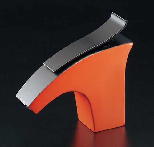 カクダイ 立水栓(オレンジ) ELLIS(エリス) 716-241-YR