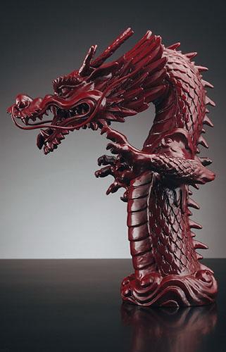 カクダイ 祥竜 しょうりゅう 吐水口 龍 漆塗り 700-757