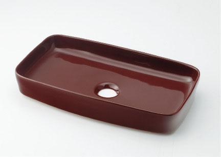 カクダイ MINO(ミーノ) 角型手洗器 493-073-BR(ショコラ)