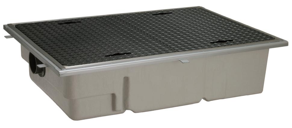 前澤化成工業 FRP製グリーストラップ パイプ流入超浅型(容量80L) GT-XL80P(SUS受座付)【GT-60PLX後継品】