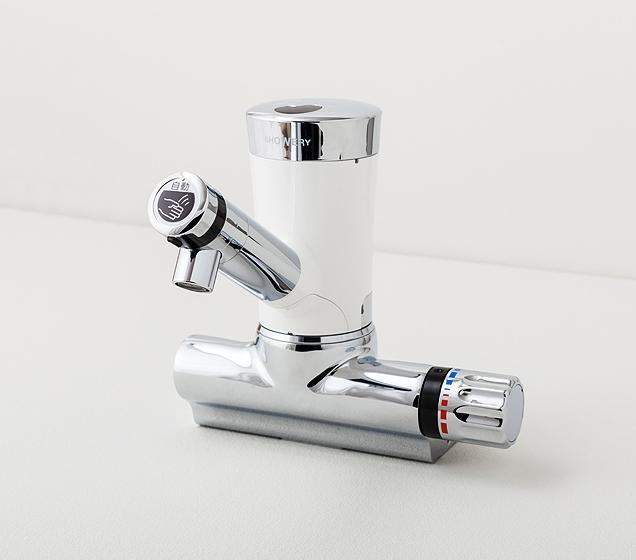 ミナミサワ 自動水栓シャワリー 混合水栓タイプ(1ホール立型混合水栓用 ポップアップ用引棒付) SWVMBP