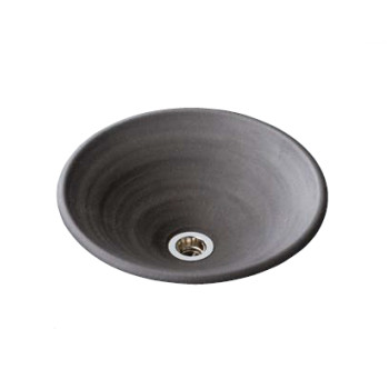 水生活製作所 手洗鉢 美濃焼 炭化黒焼締(たんかくろやきしめ) Lサイズ TM13IL