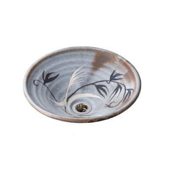 水生活製作所 手洗鉢 美濃焼 鼠志野(ねずみしの) Sサイズ TM13RS