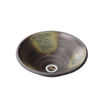 水生活製作所 手洗鉢 美濃焼 灰釉点紋(はいゆうてんもん) Mサイズ TM13HM