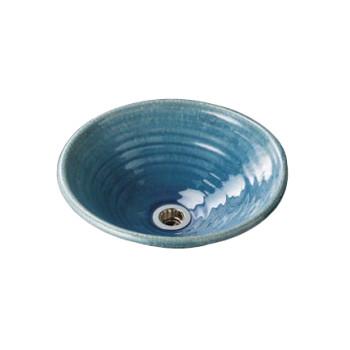 水生活製作所 手洗鉢 美濃焼 ウォーターブルー Lサイズ TM13BL