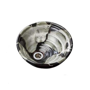 水生活製作所 手洗鉢 HAMON信楽焼 黒天目(くろてんもく) TR14K