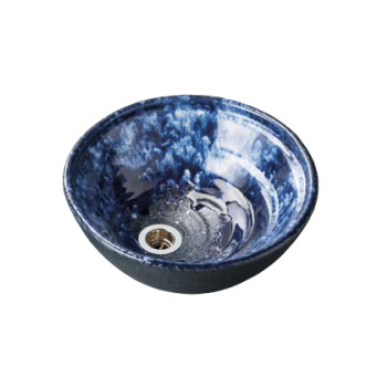 水生活製作所 手洗鉢 HAMON信楽焼 海鼠(なまこ) TR14N