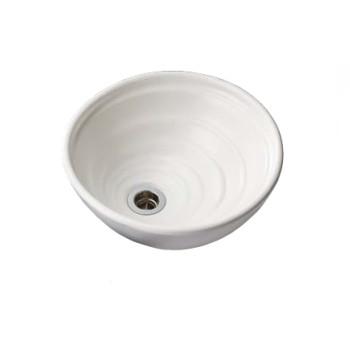 水生活製作所 手洗鉢 HAMON信楽焼 白 TR14W