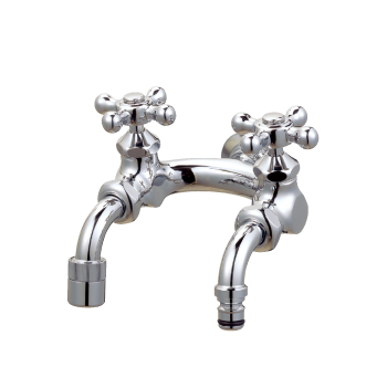 水生活製作所 U型二口庭水栓(メッキ) G207U-M