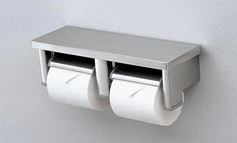新入荷 流行 TOTO 棚付2連紙巻器 売り出し YH701 ステンレス製