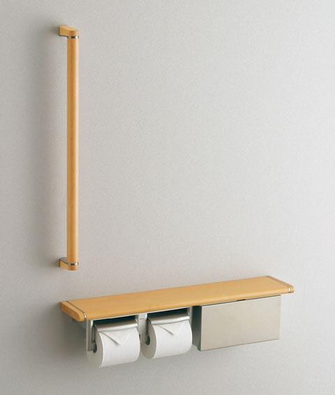 TOTO フロントワンタッチ 紙巻器一体型手すり(収納付) YHB62BS