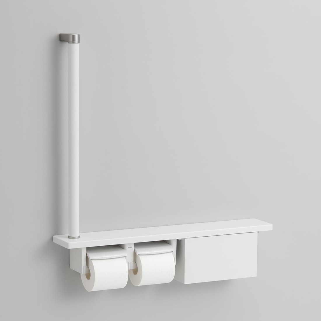 TOTO 紙巻器一体型 木製手すり 収納付 受賞店 棚一体タイプ [並行輸入品] YHB63FB