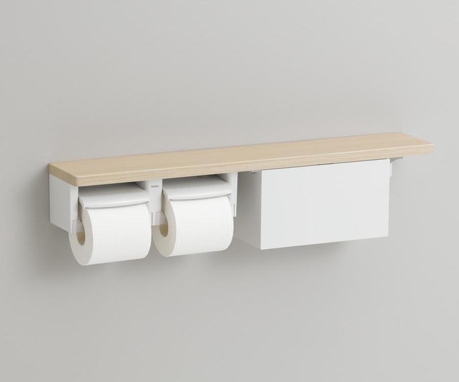 全国どこでも送料無料 TOTO 紙巻器一体型 木製手すり 棚タイプ YHB63NB 収納付 当店限定販売