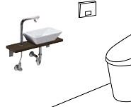 TOTO 手洗器 レストルームドレッサーセレクトシリーズ Mサイズ ミニカウンタータイプ ULA3B