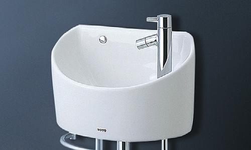 TOTO 壁掛手洗器(丸形) 立水栓(床給水・床排水) LSH90ABSN LSH90ABSNT