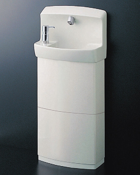 TOTO コンパクト手洗器 自動水栓(AC100Vタイプ)Sトラップ 水石けん入れ・トラップカバー付 LSE870BSFRMR