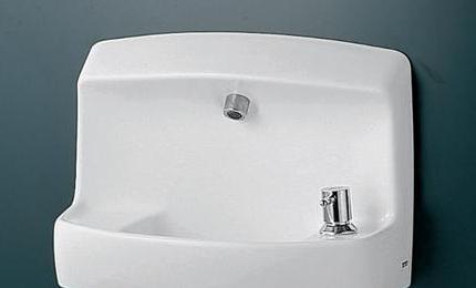 TOTO コンパクト手洗器 ハンドル式水栓セット 床給水 LSL870BSR