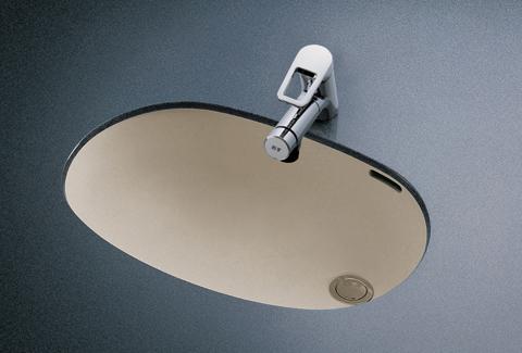 TOTO カウンター式楕円形洗面器セット  L587U + TLN32TEFR