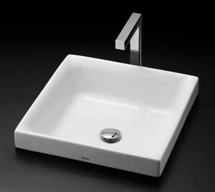 TOTO カウンター式角形洗面器セット ベッセル式 LS715 + TENA12EL