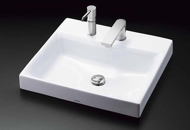 TOTO カウンター式角形洗面器セット ベッセル式 LS717CM + TENA12F
