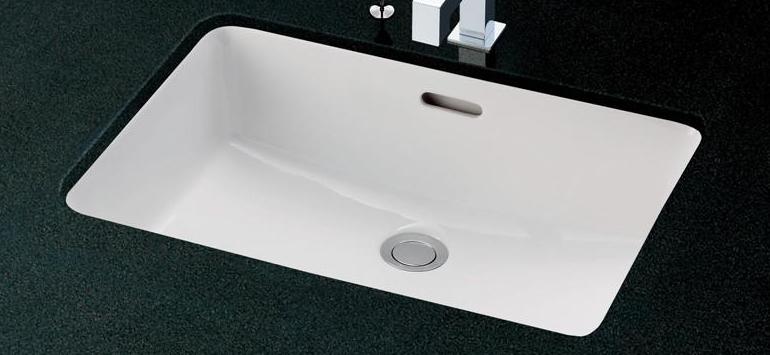 TOTO カウンター式角型洗面器セット アンダーカウンター式 2ハンドル混合水栓 L620 + TLG09201J