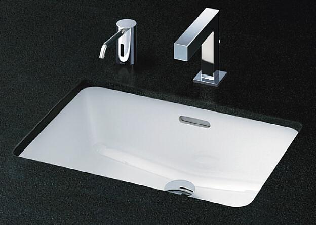 TOTO カウンター式角型洗面器セット アンダーカウンター式 自動水栓(単水栓) L505 + TENA12E
