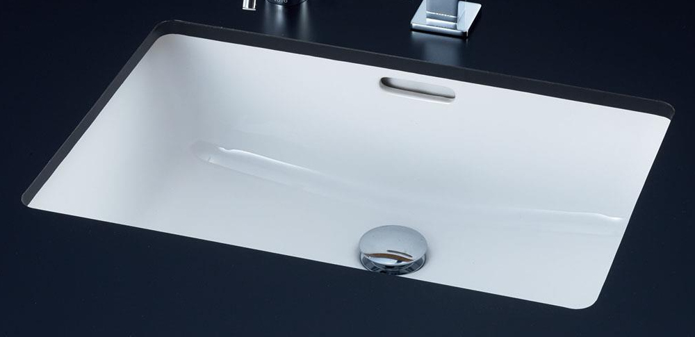 TOTO カウンター式角型洗面器セット アンダーカウンター式 2ハンドル混合水栓 L505 + TLP02201J