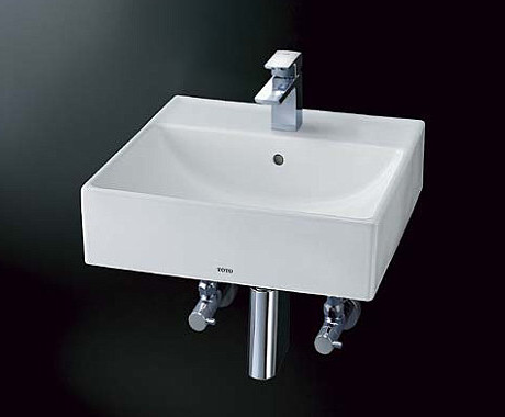 TOTO 壁掛角形洗面器 L710C + TLG02302J