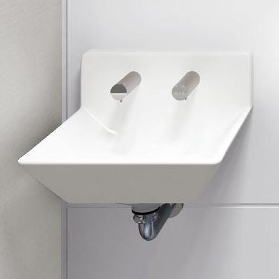 2019年最新海外 床排水 LSE125FA:アクアshop TOTO 壁掛ハイバック洗面器 自動水栓・電気温水器(湯水切替) 手動水石けん供給栓(350mL) 点検口付ライニング用-木材・建築資材・設備