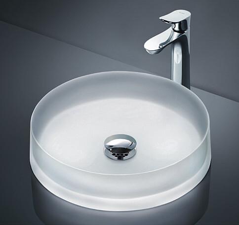 TOTO カウンター式洗面器セット クリスタルボウル シングル混合水栓 MR700 + TLG01306JA