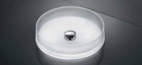 TOTO カウンター式洗面器セット クリスタルボウル 自動水栓(単水栓) MR700 + TENA12AL