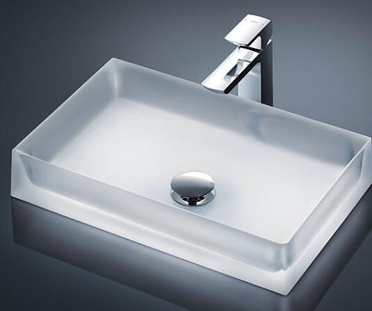 TOTO カウンター式洗面器セット クリスタルボウル シングル混合水栓 MR710 + TLG02306JA