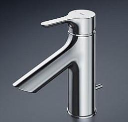 TOTO 台付シングル混合水栓 ワンプッシュ式 TLS01302JA