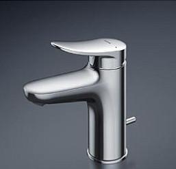 TOTO 台付シングル混合水栓 ワンプッシュ式 TLS04302JA