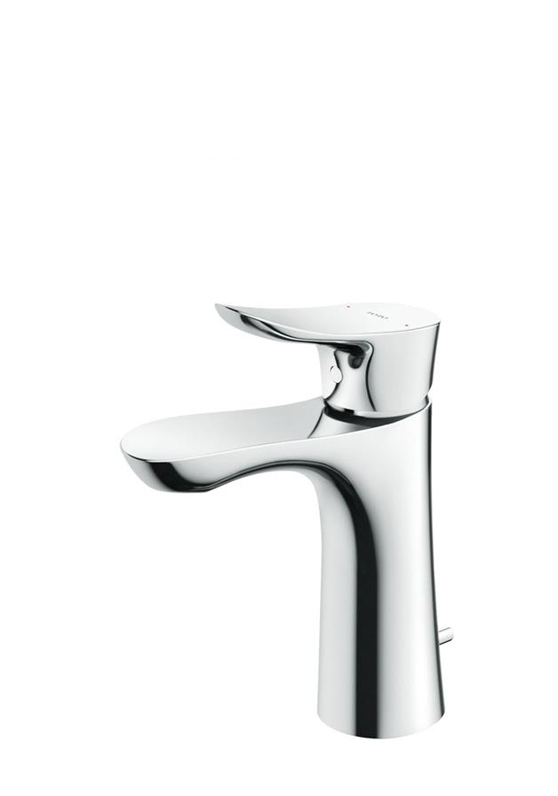 TOTO 台付シングル混合水栓 ワンプッシュ式 TLG01302JA