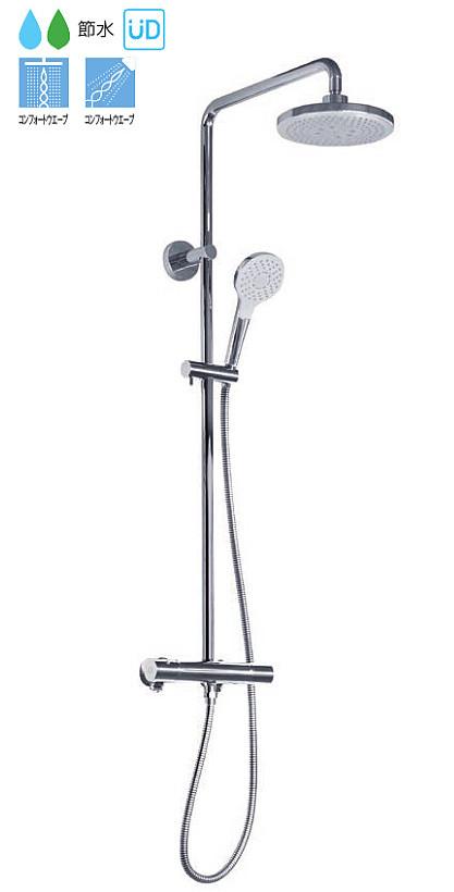 TOTO 壁付サーモスタット混合水栓(シャワーバー) コンフォートウエーブ TBW01403J