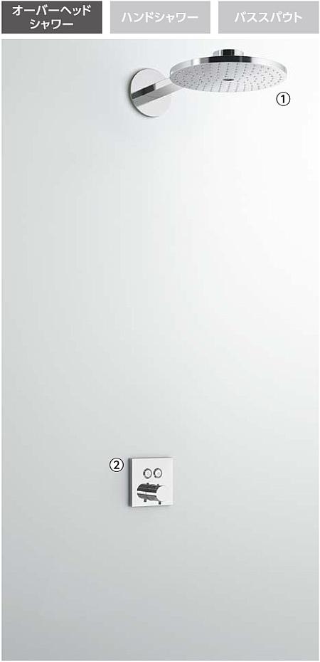 史上最も激安 TOTO ホテル用 埋め込み形シャワー TBW01005Jセット(1方向吐水):アクアshop-木材・建築資材・設備