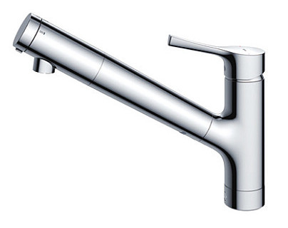 TOTO シングル混合水栓 台付き1穴 浄水器兼用混合水栓(ハンドシャワータイプ・吐水切り替えタイプ) TKS05308J